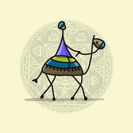 낙타, 디자인 스케치 스톡 콘텐츠 - 90369261