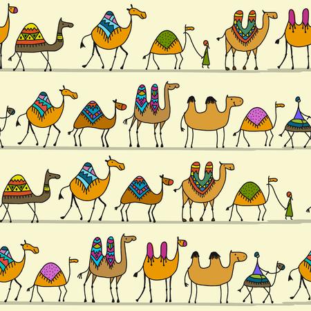 낙타 캐러밴 무늬 디자인
