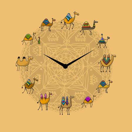 ラクダのデザインの時計