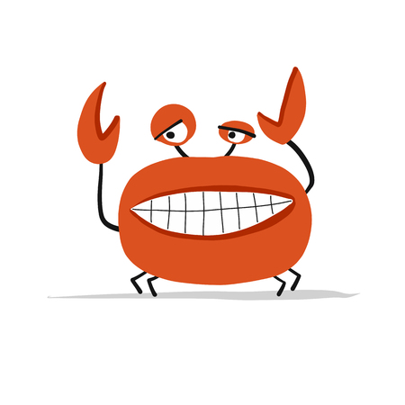 Funny crab, sketch for your design