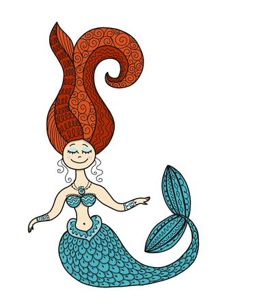 Cute mermaid for your design