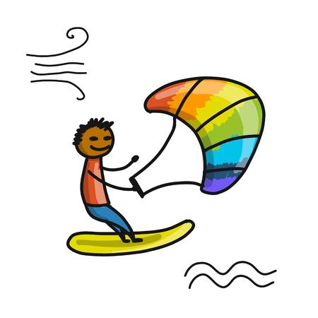 Kiteboarding sketch design