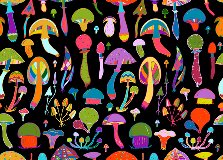 Mushrooms, seamless pattern for your design