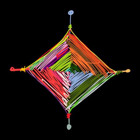 マンダラ編み、あなたのデザインのためのスケッチ