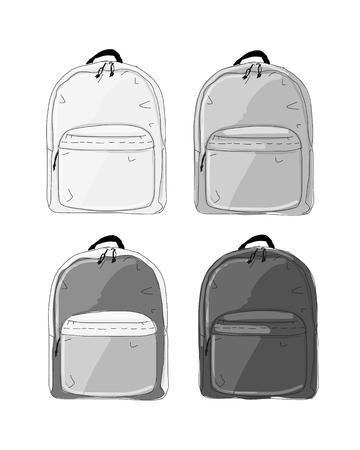 Rucksack Mockup, Skizze für Ihr Design
