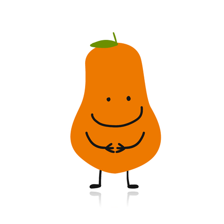 Papaya, cute character for your design vector illustration.