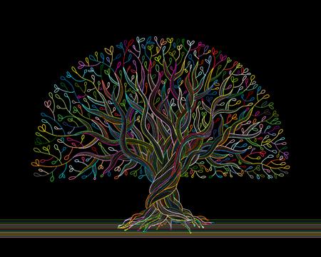 Big tree avec des racines pour votre conception. illustration vectorielle Banque d'images - 93015610
