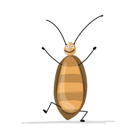 Lustige Kakerlake für Ihr Design Standard-Bild - 93023054
