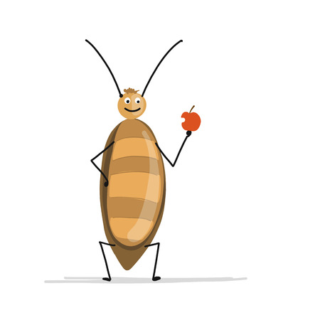 Funny cockroach for your design. Vector illustration Фото со стока - 93015618