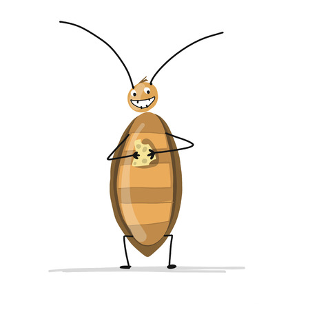 Funny cockroach for your design Vector illustration. Vettoriali