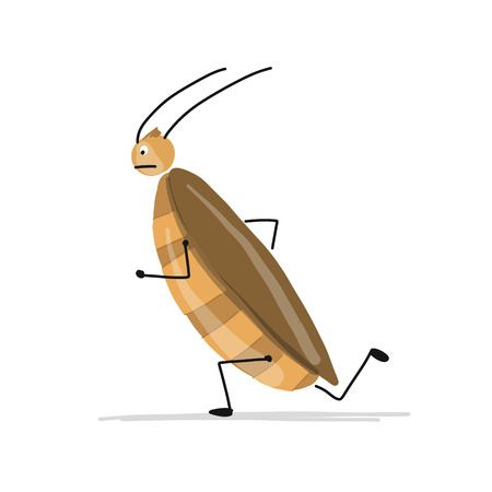 Funny cockroach for your design. Vector illustration