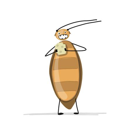 Grappige kakkerlak voor uw ontwerp