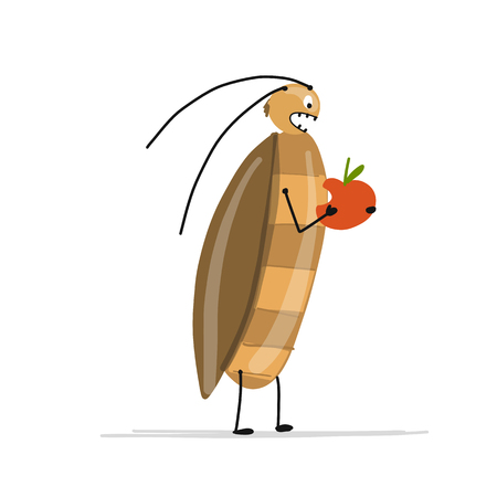 Funny cockroach for your design. Vector illustration Фото со стока - 93016026