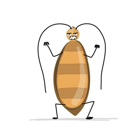 あなたのデザインのための面白いゴキブリ  イラスト・ベクター素材