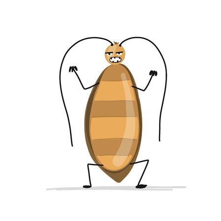 Funny cockroach for your design Фото со стока - 93016499