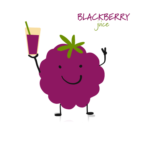 Blackberry, funny character for your design
