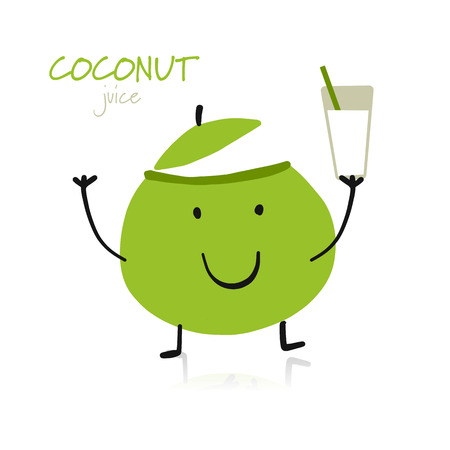 Coconut, funny character for your design
