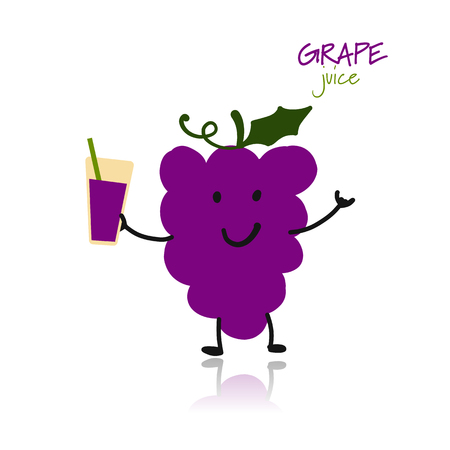 Grape, funny character for your design