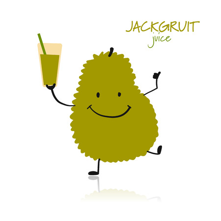 Jackfruit, funny character for your design