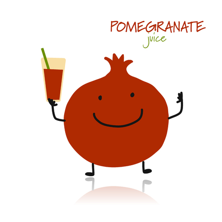 Pomegranate, cute character for your design