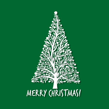Christmas tree, greeting card for your design