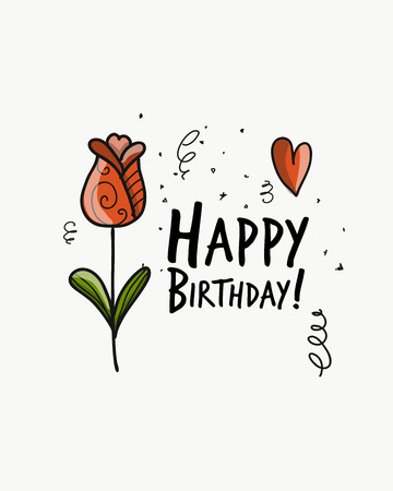 Floral birthday card for your design