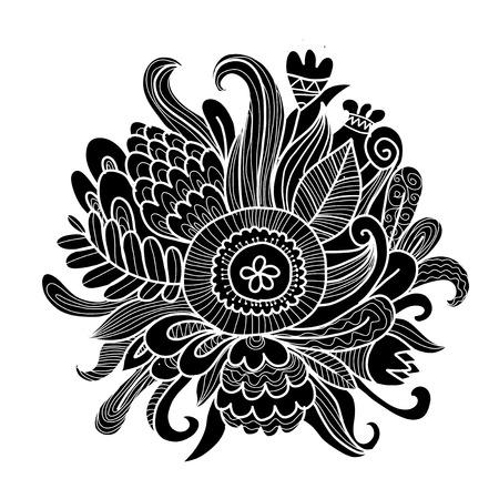 Floral bouquet, sketch for your design Illustration