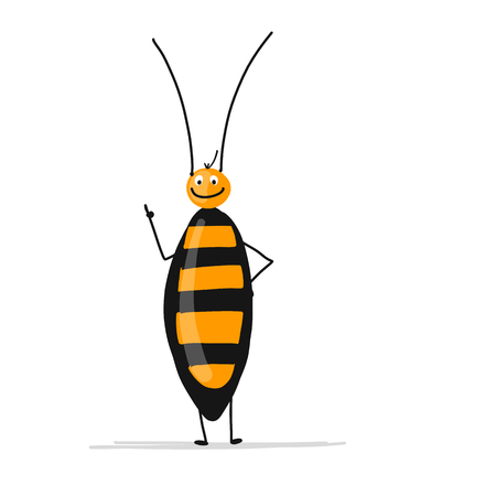 Funny cockroach for your design
