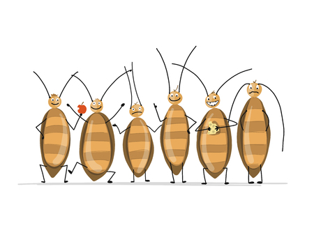 Funny cockroaches for your design.