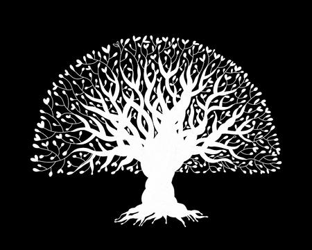 Big tree avec des racines pour votre conception Banque d'images - 97100145