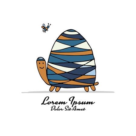 Funny turtle vector illustration Ilustração