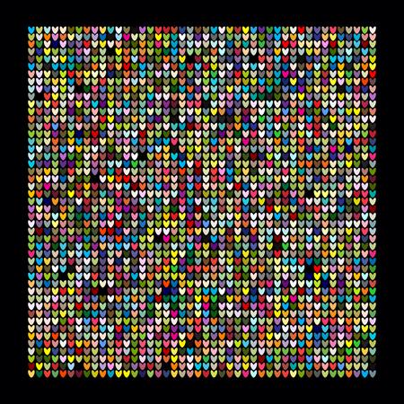Knitting texture pattern design. Vector illustration