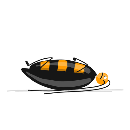 Funny cockroach for your design Vector illustration. Stock Illustratie