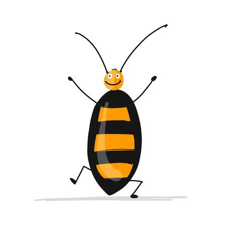 Funny cockroach for your design Vector illustration. Иллюстрация