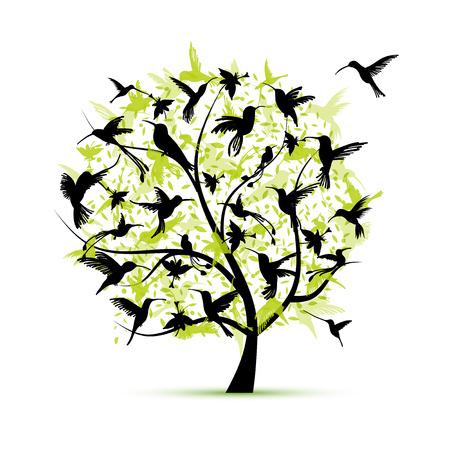 Kolibri, Skizze für Ihr Design