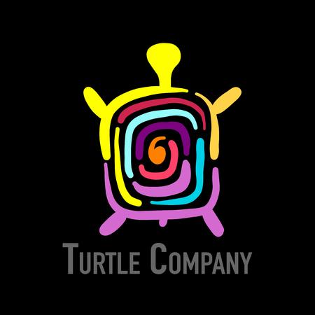 Turtle colorful icon design.