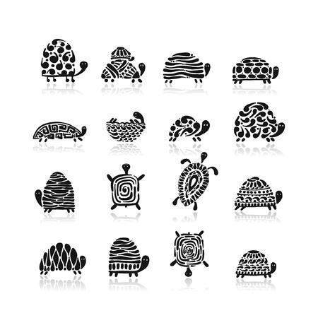 Turtle logo set for your design