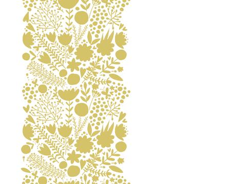 Floral border, seamless pattern for your design vector illustration. Illustration
