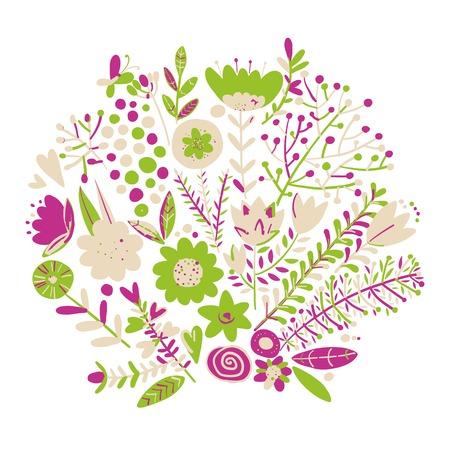 Floral frame, sketch for your design vector illustration. Иллюстрация