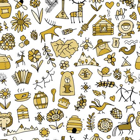 Ethnic design elements sketch vector illustration. Illustration