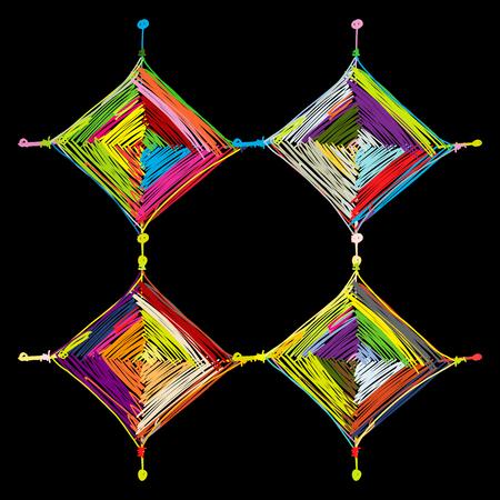 Mandala knitting for your design Ilustração
