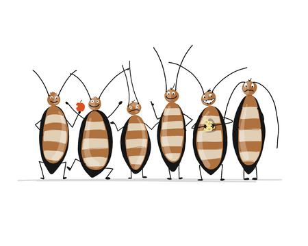 Grappige kakkerlakken voor uw ontwerp. Vector illustratie Vector Illustratie