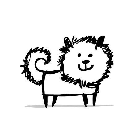 Funny dog, sketch for your design. Stock Illustratie