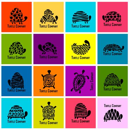 Turtle logo set. 일러스트