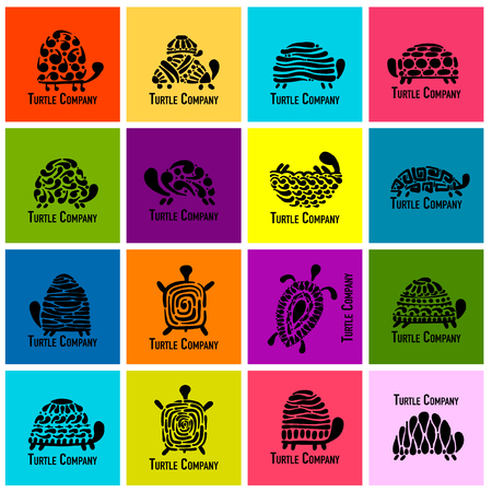Turtle logo set. Stock Illustratie