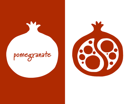 Pomegranate, sketch for your design
