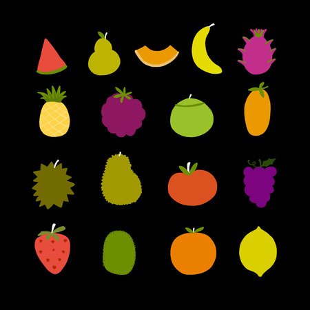 Fruits collection, set for your design Stock Photo