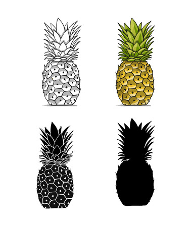 Pineapples, sketch for your design