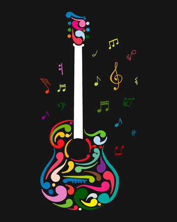 Art guitar, sketch for your design Stock Vector - 101036486