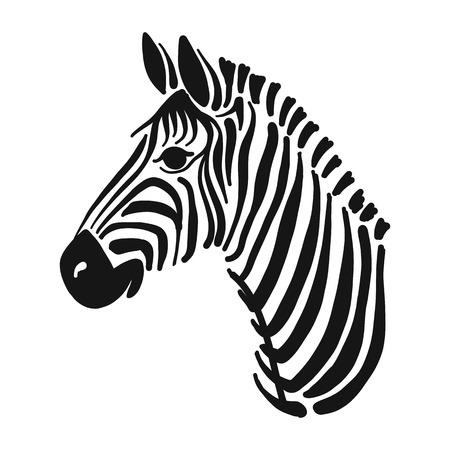 Cebra, boceto de su diseño Ilustración de vector